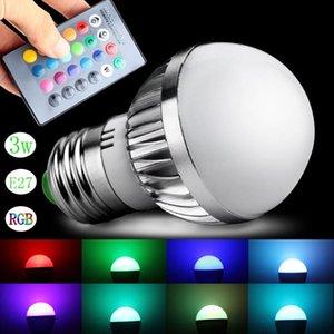 Bulbs 24 Key IR Remote Controller 3W RGB LED Bulb Light Lamp E27 GU10 16 Colors Change AC 85-265V For Home Party Decor