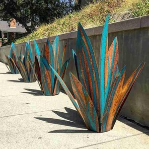 35cm Metal Art Tequila Rustic Sculpture Garden Yard 9Leaves Home Decor Outdoor Signs Decoration Accessories Decorations
