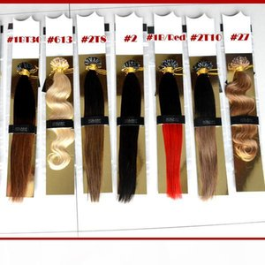 "XCSUNNY 18"" 20"" U Tip Fusion Hair Extension 100g Bright Color Nail U Tip Hair Extensions Keratin Fusion U Tip Hair Extensions"