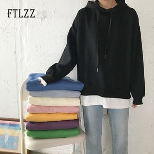 2021 New Women Hoodies Autumn Winter Ulzzang Harajuku Long Sleeve Loose Hooded Sweatshirt Female Tops Korean Cute Girls Clothes Dyvx