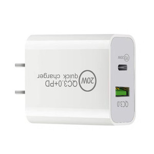 20W Fast Quick Charger Eu US Ac power Adapter USb Wall Chargers For iphone Samsung S20 S21 Note 20 htc