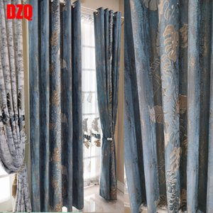 Curtain & Drapes European Embroidery Curtains For Bedroom Living Room Windows Valance Luxury French Window