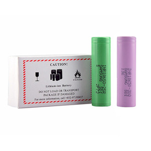 25R 2500mAh 30Q 3000mAh 18650 Battery Green Pink Great Quality Lithium Battery Flat Top INR18650 Rechargeable Vape Mod Cell for Samsung