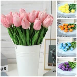 Tulip Artificial Flower Real Touch Artificial Bouquet Fake Flower For Wedding Decoration Flowers Home Garen Decor w-00692