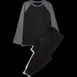 Szmxss Primavera uomo cotone raglan sleepwear sleepwear manica lunga top in basso pigiama salotto