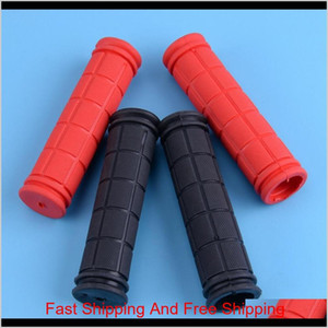 1 Pair Rubber Soft Bike Handlebar Grips Bmx Mtb Mountain Bike Road Bike Bicycle Handle Handlebar Bar End Grips Co qylpey homebag