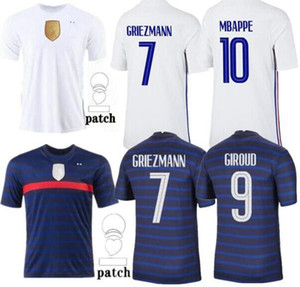 2020 2021 France soccer jersey maillots de football maillot equipe de French 20 21 MBAPPE GRIEZMANN KANTE POGBA Size s-4xl