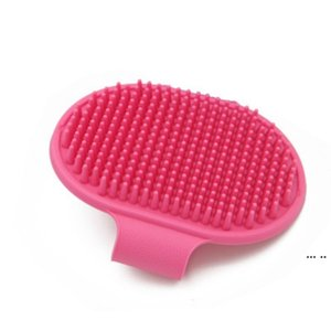 كلب حمام فرشاة مشط سيليكون pet سبا شامبو تدليك فرشاة دش إزالة الشعر مشط للحيوانات الاليفة أداة تنظيف الاستمالة DHE5188