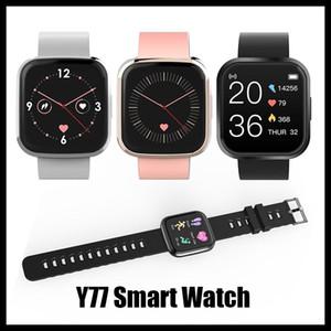 2020 Nouveautés Y77 Smartwatch Grand Touch Touch Full Touch Femmes Sport Sport Fitness Bracelet Moniteur de fréquence cardiaque pour iOS Android Xiaomi