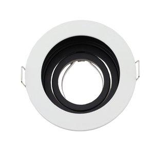 Alliage de zinc Round Round Roodlight Downlight Pièces de logement GU10 Spot