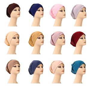 이슬람 여성 안쪽 hijab headscarf 모자 이슬람 모달 밑줄 모자 핫 닌자 스카프 라마단 스트레치 코튼 보닛 캡 A772 319 U2