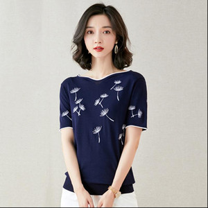 Knitted Pullovers Women Sweaters 2021 New Summer Short Sleeve Fashion Ice Silk Snowflake Pullover Pull Femme Woman Knit Top