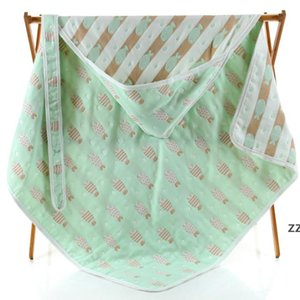 The latest 90x90CM size blanket, baby six-layer gauze swaddling quilt warm, a variety of styles to choose from HWE10250