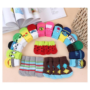 Hot Pet Dog Cat Warm Socks For Winter Cute Puppy Dogs Soft Cotton Anti-slip Knit Weave Sock Skid Bottom Dog Cat Socks Clo jllCdc soif