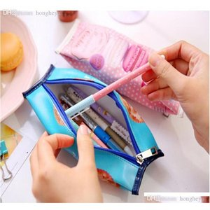 Wholesale-kawaii Pencil Bag Students Creative Macaron  nut  Biscuit Style Pencil Cases Stationery Material Escolar jllolU eatout