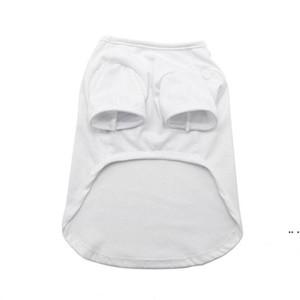 Sublimation Blank White DIY Vest Pet Dog Sleeveless Thin Vest Small Pet Heat Transfer Print Pet T-shirt DHC6358
