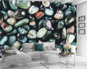 Emerald Agate Stone 3d Wallpaper 3d Wall Paper for Bedroom High-class and Elegant Interior Decorative Silk 3d Mural Wallpaper