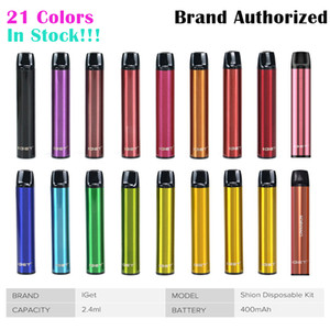 Authentische Iget-Shion-Einweg-Pod-Gerät-Kit 600 Puffs 400mAh-Batterie 2.4ml Vorgefüllte Kartusche Vape-Pen Authentic vs bar plus xxl