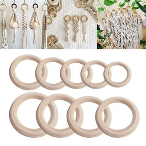 New 1 Bag Natural Wood Circles Beads Wooden Ring DIY Jewelry Making Crafts DIY