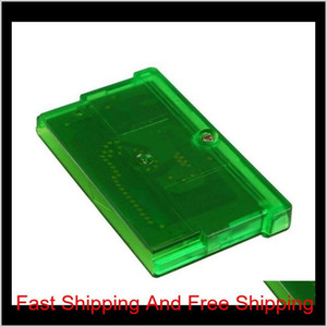 Usa Eu Version English Language Gameboy Cartridges Video Gift Cards Gba Games Fire Red Ruby Sapphire Leaf Green Emerald Christmas 1Lck Orfmt