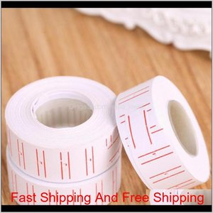 2017 New 10 Rolls  Set Price Label Paper Tag Tagging Pricing For Gun White 500Pcs Roll Fdg8X 3Ngpz