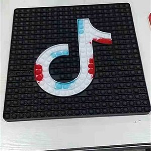 40*40CM large square shape TIKTOK fidget push pop bubble board game kids christmas toys jumbo rainbow finger puzzle decompression poo-its early learning G87CJ1E
