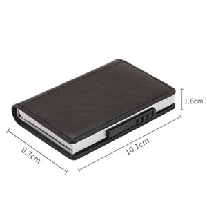 Bycobecy Magnetic Buckle Card Wallet Business Metal Card Purse Bank Card Box Rfid Blocking Holder Minimalist Walle qylCos