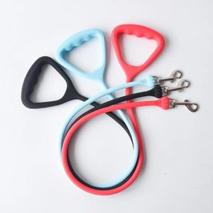 Dog Collars & Leashes 2pcs Soft Durable Silicone Harness Led Sublimation Pet Collar Lead Leash Strap Rope For