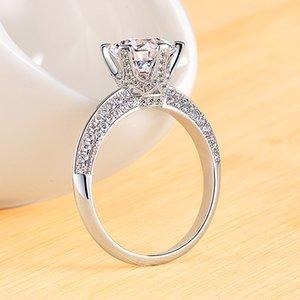 American genuine Moissanite ring D color women's imitation diamond wedding ring diamond jewelry