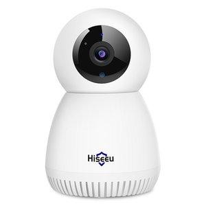Автомобильный трек PAN / TILT, HISEU 3MP HOOK COODER HOME CAMERY Двухстороннее аудио, умный детский монитор, IR ночное видение, подходящая система беспроводной камеры наблюдения