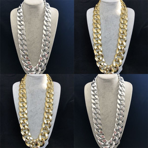 Curb Cuban Link Chain Hip Hop Mens Thick Long Designer Necklace Fashion Big Chunky Vintage Choker Iced Out Rapper DJ Accessories 239 R2