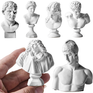 Greek Mythology Figurines Gypsum Portraits Bust Mini Gypsum Statue Drawing Practice Crafts Plaster Sculpture Nordic Home Decor C0220