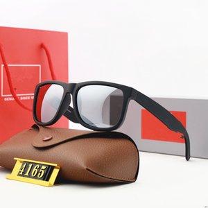 Justin Classic 4165 Дизайнер Солнцезащитные очки Мужчины Женщины Очки Oyeglasses Открытые оттенки ПК Рамка Polarized UV400 Леди Солнцезащитные Очки Зеркало Цветовая смесь