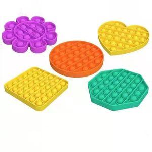 3Pcs Push Pop Bubble Children's Educational Fidget Toy Desktop Toys Silicone Decompression Squeeze Toys Stress Reliever Toys