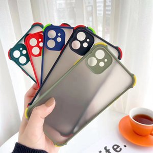 For iphone12 Pro Cases four-corner anti-drop xs max skin-friendly XR mobile phone case 6 7 8Plus 11 lens all-inclusive