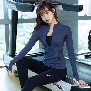 NOUVEAU Mode Gym Yoga Vêtements Pour Femmes Tops Quick-Séchage Slim Fit Matin Running Workout Vêtements Longues manches courantes