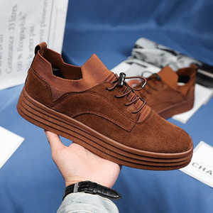 Spring Autumn Young Casual Men Footwear Man Casual Sock Sneakers Wearable Flats Shoes For Men Elastic Band Walking Shoes Mens G3BA#
