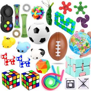 Juego de juguetes sensoriales, alivia el estrés y la ansiedad Fidget Juguete para los niños adultos, un surtido de juguetes especiales para favores de fiesta de cumpleaños HWD4973