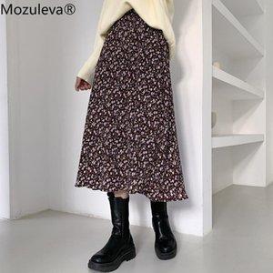 Skirts Mozuleva 2021 Spring A-Line Empire Woman Casual Print Mid-Calf Skirt
