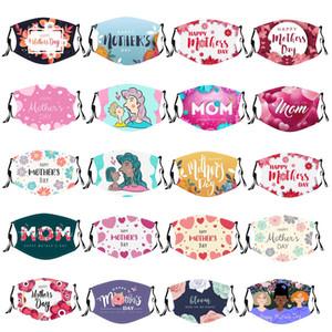 Muttertag Gesichtsmaske Liebe Muster Druckmaske Für Frauen Baumwollmasken Kundenspezifische Erwachsene Staubdichte Anti-Smog-Gesichtsmaske Auf Lager