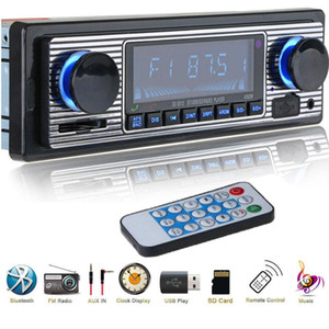 Wireless Car Radio 1 din Bluetooth Retro MP3 Multimedia Player AUX USB FM Play Vintage Stereo Audio Player With Remote Control