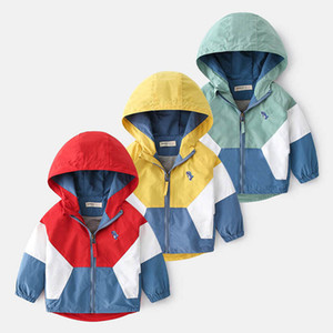 2021New Boy Coat Cartoon Hooded Kids Jacket Spring Autumn Long Sleeve Children Outwear Baby Clothes 2-6Y SM044