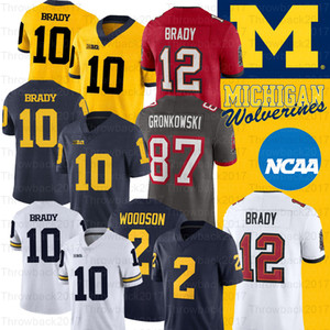 NCAA Michigan Wolverines Jersey Desmond Howard 10 Tom Brady 2 Charles Woodson Shea Patterson College Jersey