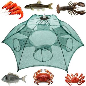 6/10/24 Fori piegati Piegati Automatic Fishing Net Granchio Pesce Gambero Trappola Gamberetti Carp Catcher Gabbie Minnow Crab Baits Cast Pesch Nets