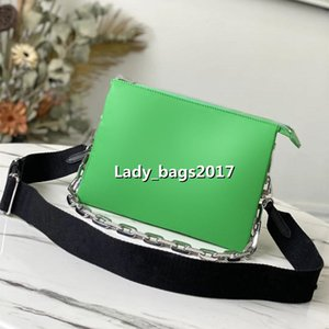 Classic Men Embossed Clutch Crossbody Bags Lady Envelope Shoulder Bag For Women Fashion Chains Purse Handbag Cowhide Evening Hobo Messenger