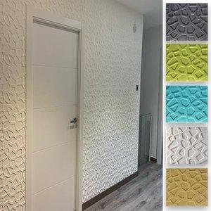 Wall Stickers Foam 3D Self Adhesive Decoration Wallpaper Panels Home Decor Living Room Bedroom Bathroom Decorative Tiles