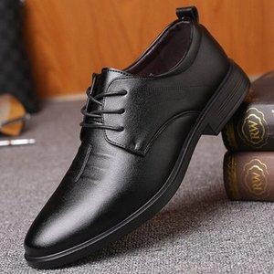 İngiliz Bullock Erkek İş Ayakkabıları Dört Sezon Eğilim Rahat Deri Ayakkabı Erkekler Casual Düşük Üst Kart * A5006 18TJ #