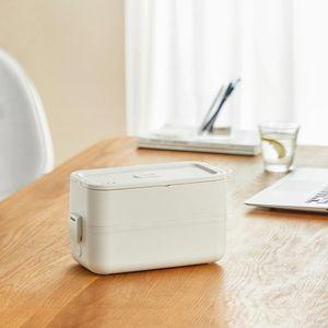280W صندوق الغداء الكهربائية المحمولة طباخ الأرز وعاء الطبخ باخرة طبقة مزدوجة متعدد المعقرة حاوية ل مكتب 950 ملليلتر