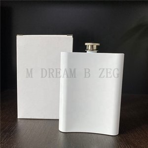 8oz 240ml Sublimation Hip Flasks DIY Blank Wine Pot Stainless Steel Tumblers Portable Camping Water Bottle