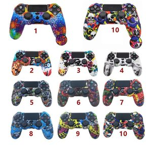 Colors Silicone Camo Protective Skin Case For Sony Dualshock 4 PS4 DS4 Pro Slim Controller Anti Slip case